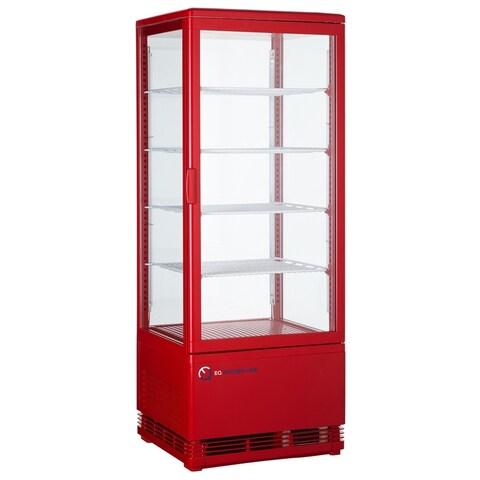 EQ Kitchen Line RT-98L Commercial Refrigerated Glass Beverage Display Case
