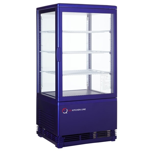 EQ Kitchen Line RT-68L Commercial Refrigerated Glass Beverage Display Case