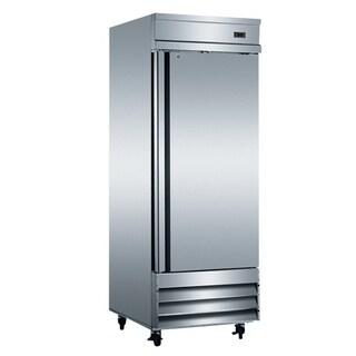 "EQ Kitchen Line Stainless Steel 1-Door Commercial Reach-In Refrigerator, 29""L x 32.25""W x 82.5""H"