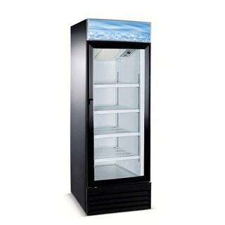 """EQ Kitchen Line Black Commercial 1-Door Reach-In Refrigerator, 25.6""""L x 22.8""""W x 79.3""""H"""