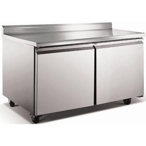 "EQ Kitchen Line Stainless Steel Commercial Worktop Refrigerator, 60.25"" L x 29.5"" W x 38.75"" H"