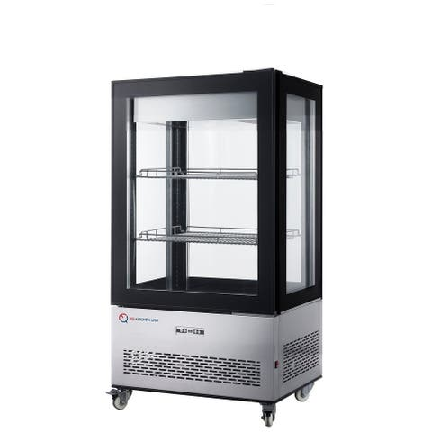 EQ Kitchen Line RT-350L- Black Commercial Refrigerated Bakery Display Case