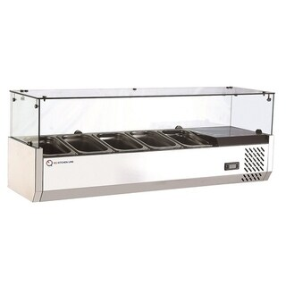 EQ Kitchen Line RT-1200L Refrigerated Counter Top Sandwich and Pizza Prep