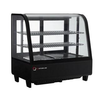 EQ Kitchen Line RTW-100L-Black Countertop Refrigerated Display Case Showcase