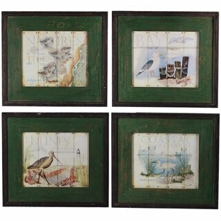 Lovely Wooden Wall Decor, Multicolor, Assortment Of 4
