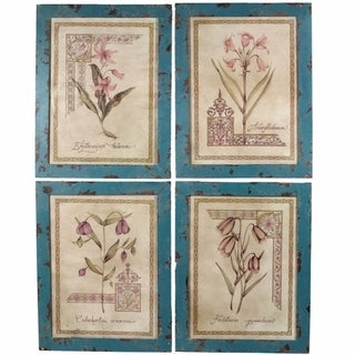 Attractive Wooden Wall Decor, Multicolor, Assortment Of 4