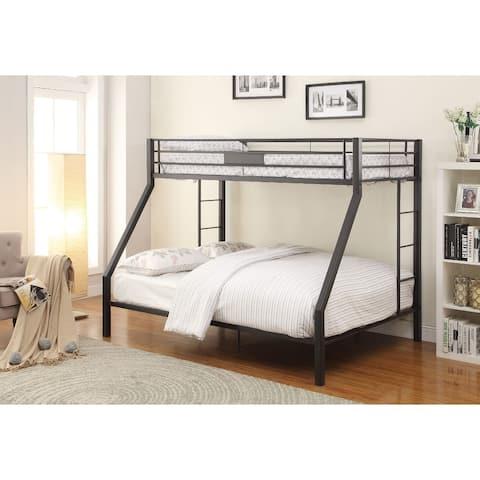 Metal Twin XL/Queen Bunk Bed, Black Sand