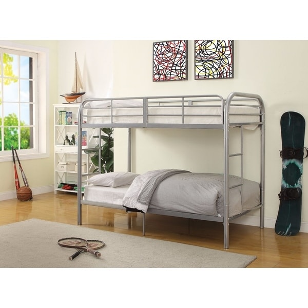 Thomas Twin/Twin Bunk Bed, Silver