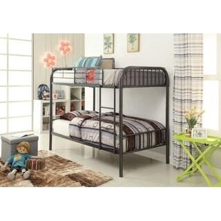 Metal Twin/Twin Bunk Bed, Gunmetal Gray