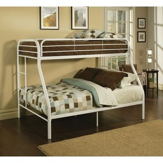 Tritan Twin/Full Bunk Bed, White