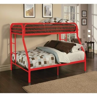 Tritan Twin/Full Bunk Bed, Red