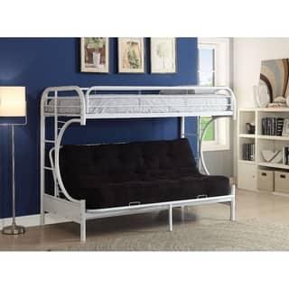 Eclipse Twin Xl Queen Futon Bunk Bed White