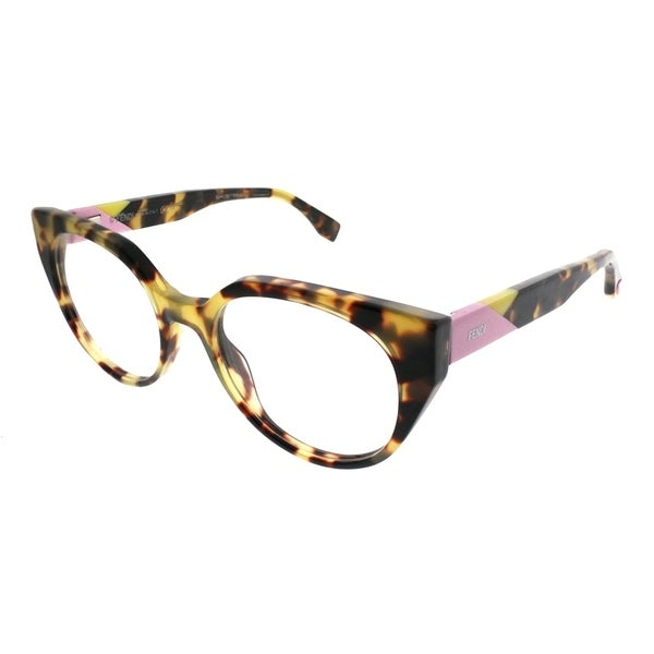 294ed515c8a2 Fendi Cat-Eye FF 0160 Fendi Facets 00F Women Tortoise Frame Eyeglasses