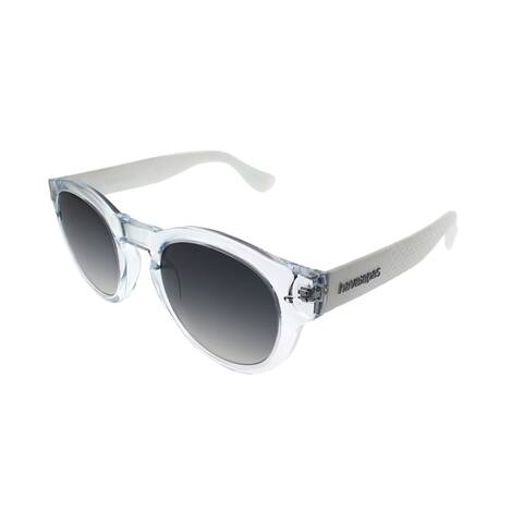 Havaianas Round Trancoso/ R0I LS Unisex Crystal White Frame Grey Gradient Lens Sunglasses