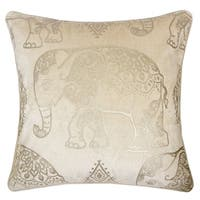 Gold Series Vintage Elephant Luxury Decorative Pillow Case