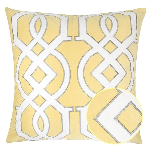 Geometric Knot Bright Spring Tropical Decorative Pillow Case Free Best Bright Yellow Decorative Pillows