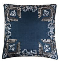Navy Series Floral Decorative Square Couch Cushion Pillow Case