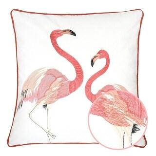 Pink Coral Flamingo Love Tropical Decorative Pillow Case