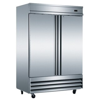 "EQ Kitchen Line Stainless Steel 2-Door Commercial Reach-In Freezer, 54""L x 32.25""W x 82.5""H"