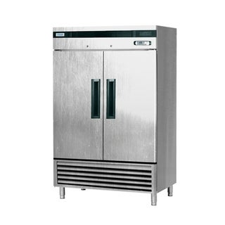 "EQ Kitchen Line SF-49L2 Commercial Standing Freezer, 2 Doors, 344 gal, 84.2"" Height, 30.8"" Width, 55"" Length, Stainless Steel"