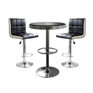 AmeriHome 3 Piece Contemporary 2 Tone Bar Set