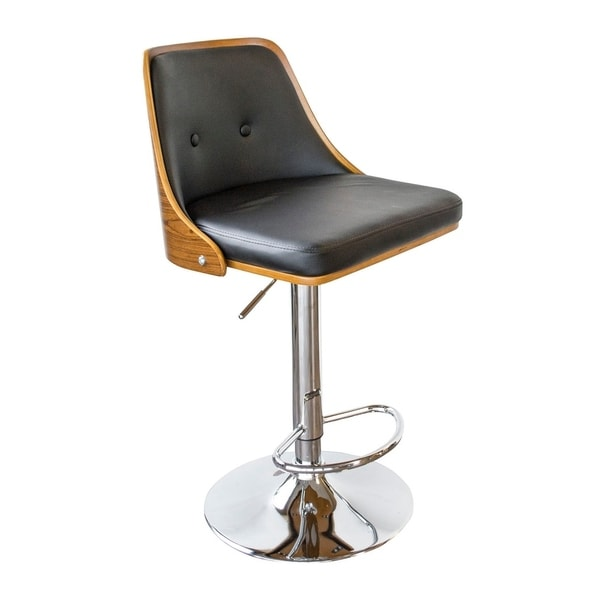 Shop Offex Bent Wood Onyx Faux Leather Adjustable Height
