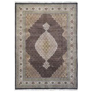 "FineRugCollection Hand Made Very Fine Mahi Tabriz With Silk Flowers Oriental Rug - 8'3"" x 11'6"""