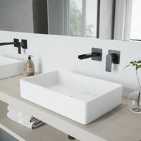 VIGO Atticus Matte Black Wall Mount Bathroom Faucet