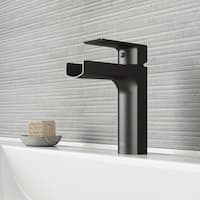 VIGO Ileana Matte Black Single Hole Bathroom Faucet