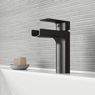 VIGO Ileana Matte Black Single Hole Bathroom Faucet