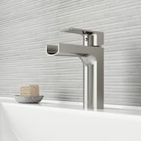 VIGO Ileana Brushed Nickel Single Hole Bathroom Faucet