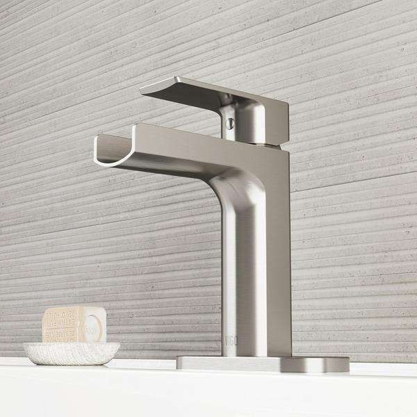 Shop Vigo Ileana Brushed Nickel Single Hole Bathroom