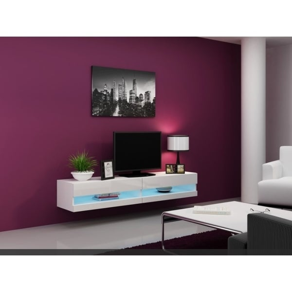Tv Stand New Designs : Shop vigo new white tv stand on sale free shipping today