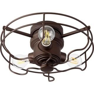 Quorum International Bronze Finish Metal Windmill Fan Optional Light Kit