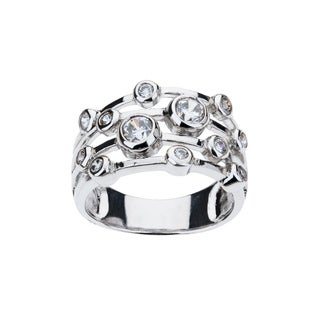 Eberle Radiance Contemporary Multi- Band Bubble Cubic Zirconia Ring