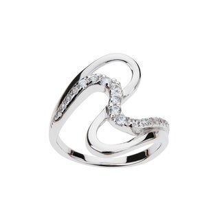 Eberle Radiance Collection Contemporary Cubic Zirconia Swirl Ring