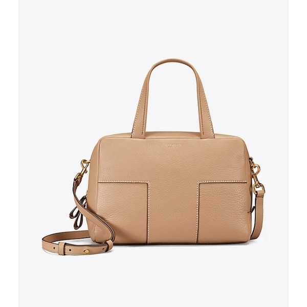 c910adf8a52 Shop Tory Burch Block T Pebbled Leather Satchel - On Sale - Ships To ...