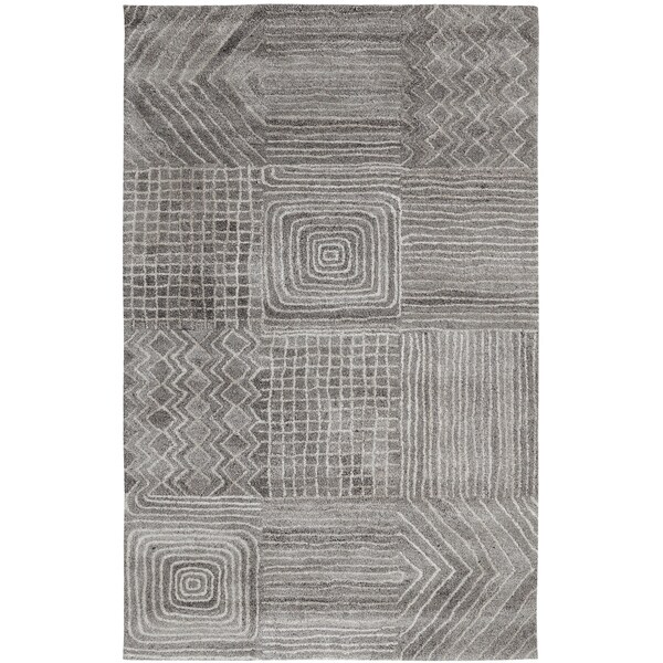 Posh Dark Grey Area Rug - 5'x 8'