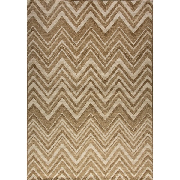 Dynamic Rugs Mysterio Cream Area Rug - 6'7 x 9'6