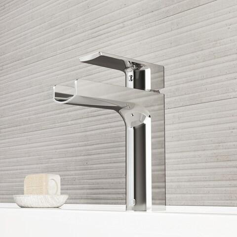 VIGO Ileana Chrome Single Hole Bathroom Faucet