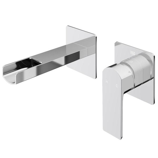 Shop Vigo Atticus Chrome Solid Brass Wall Mount Bathroom Faucet On