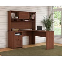 Bush Furniture Buena Vista L Shaped Desk with Hutch