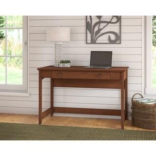 Bush Furniture Buena Vista Writing Desk with Drawer in Serene Cherry