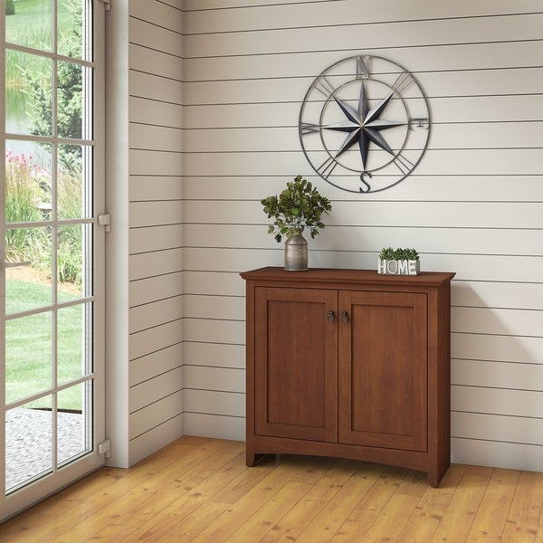 Bush Furniture Buena Vista Small Storage Cabinet with Doors in Serene Cherry & Shop Bush Furniture Buena Vista Small Storage Cabinet with Doors in ...