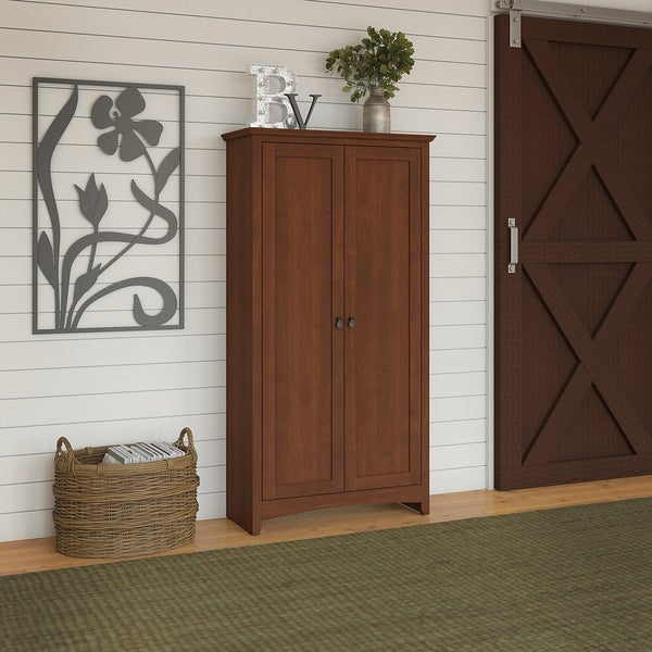 Shop Buena Vista Tall Storage Cabinet With Doors In Serene Cherry
