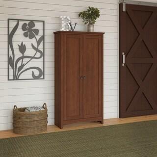 Buena Vista Tall Storage Cabinet with Doors in Serene Cherry
