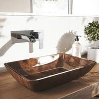 VIGO Cornelius Chrome Wall Mount Bathroom Faucet