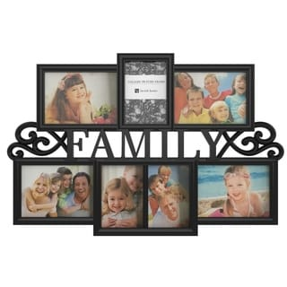 Link to Family Collage Picture Frame with 7 Openings for Three 4x6 and Four 5x7 Photos Lavish Home (Black) Similar Items in Decorative Accessories