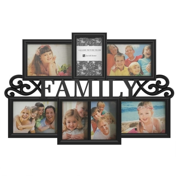 Shop Family Collage Picture Frame With 7 Openings For Three 4x6 And
