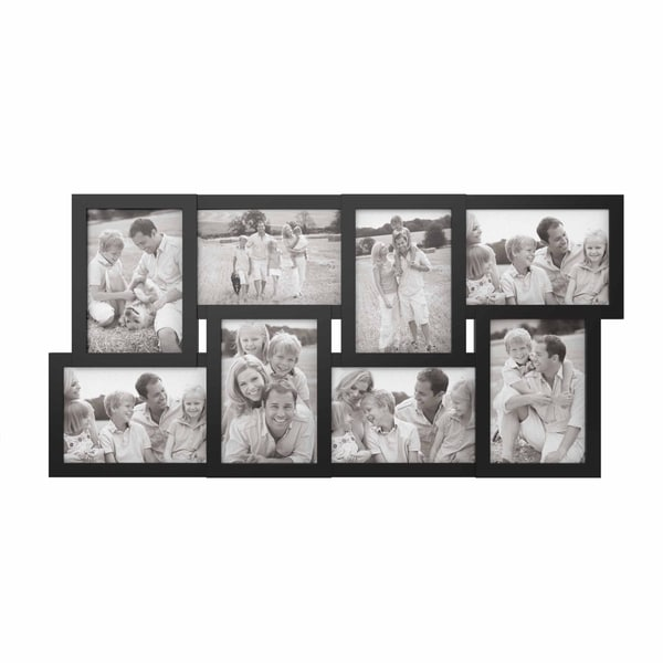 Collage Picture Frame with 8 Openings for 4x6 Photos- Lavish Home (Black). Opens flyout.